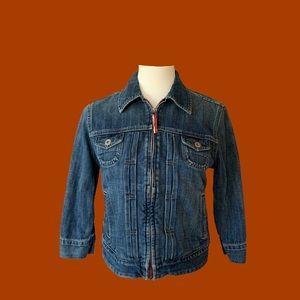 Early 2000's Zip Up Lucky Brand Denim Jacket